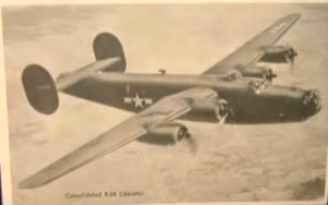 """SHACK RABBIT"" was Ray's regular Combat Ship, B-24 Liberator."