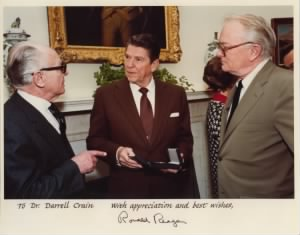 Dr. Crain, President Reagan, and Mr. MacNeil, 1981