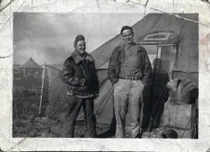 Stanley Szwast on the Left with friend (Who am I?) MTO WWII