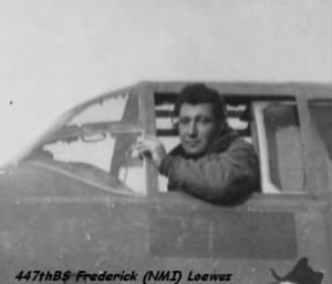 Frederick (NMI) Loewus, 321st Bomb Group, 447th Bomb Squadron MTO B-25 WWII