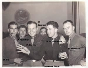 George on the far RIGHT.  VE Day Celebration /MTO Anacona, Italy