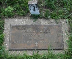 Footstone of Thomas Wood
