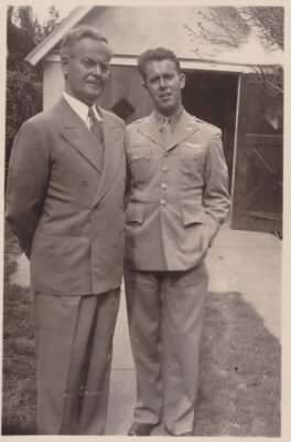 Robert and son John (WWII)