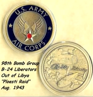 Capt Charles F Myers was a Combat Pilot in the 98th Bomb Group /MTO WWII