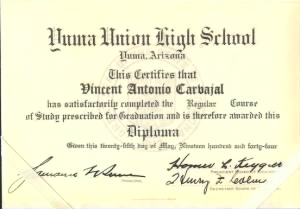 Yuma High School Diploma