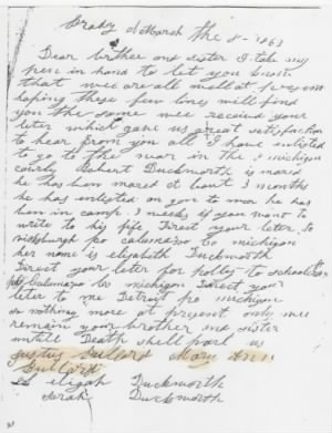 Civil War Era Letter