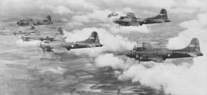 95th's B-17's in Flight
