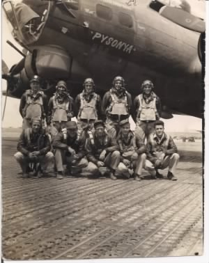 "Crew Photo of the ""Pysonya"" (B-17G 42-31795)"