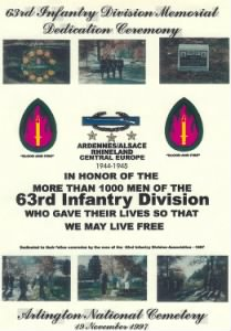 63rd Infantry Division Records