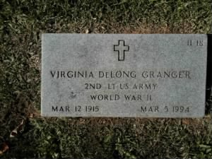 Headstone of Virginia Granger
