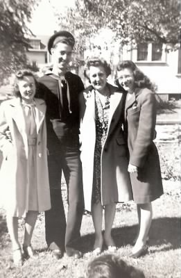 Betty, Bill, Cordella, and Peggy (Betty's mother and sister)