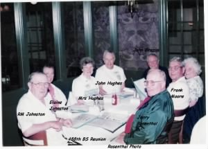 488th Bomb Squadron Reunion, RM Johnson, Jerry Rosenthal and others /Rosenthal Photo