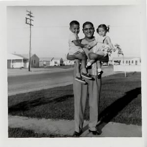 Vincent A. Carvajal Jr. with George V. Carvajal (son), Pamela Carvajal Drapala (daughter) late 1950's