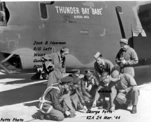 B-25 Thunder Bay Babe, George Potts and his CREW /Grotagglie, Italy