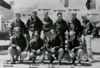 (Jack Cahill Photo) BENNIE standing far RIGHT with his B-24 Crew and the B-24