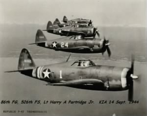 Lt Harry Partridge KIA Sept.'44 P-47 PILOT