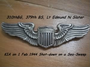 Edmund Slater, KIA on Sea-Sweep on 1 Feb. 1944