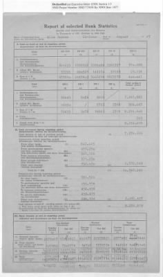 American Zone: Report of Selected Bank Statistics, August 1947 › Page 5 - Fold3.com