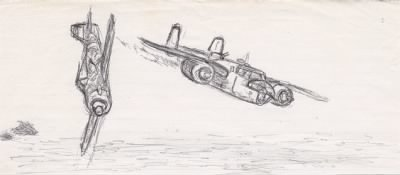 Lt Doug Orr's drawing of the