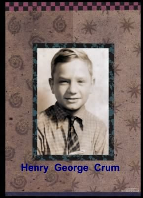 a young Henry George Crum