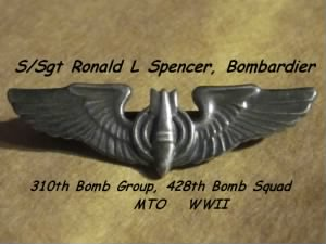 310th BG, 429th BS, S/Sgt Ronald L Spencer, Bombardier in the MTO, B-25 Mitchells
