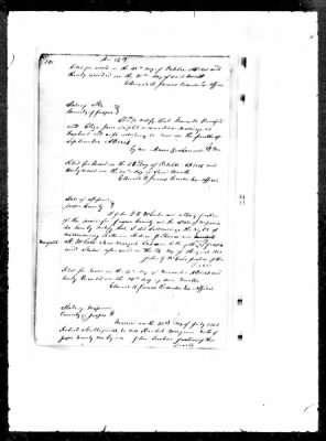 Marriage Record for Granville Hansford and Eliza Jane Triplett