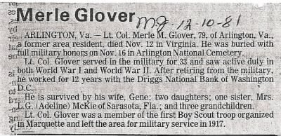 Merle Glover Obituary - Fold3.com