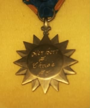 Air Medal reverse side