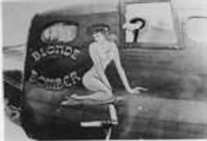 Nose Art for Blond Bomber