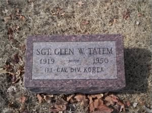Glen Wood TATEM'S Tombstone