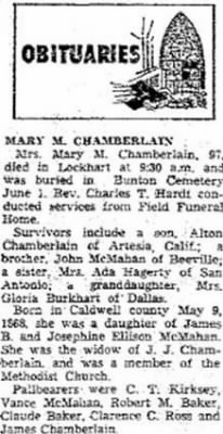 Mary Maud Brown 1965 Obit.JPG