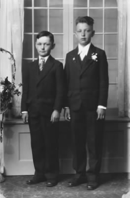 Raymond J. Cychosz and his younger brother Francis A. Cychosz.