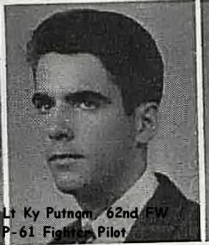 Lt Ky B Putnam, 1943, College Photo, 1943
