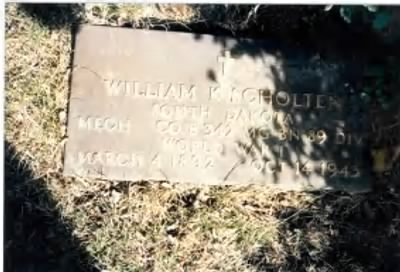 William Karel Scholten Headstone