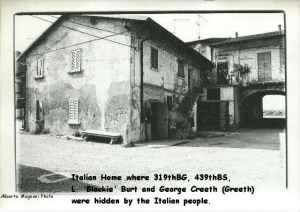HOUSE in Italian town where 319th BG Creeth and Burt were hidden. Sept. 1944