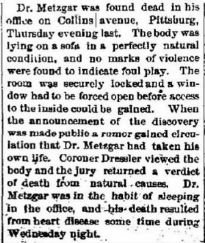 Daniel H Metzgar 1885 Pgh Office Death.JPG