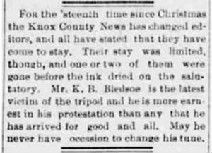 K B Bledsoe 1894 Quits Knox Co News Editorship.JPG