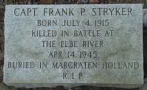 Capt. Frank Stryker, 4 July, 1945 to 14 April, 1945