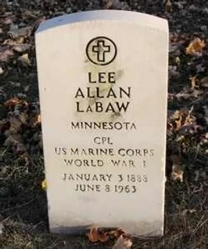 Corp Lee Allen LaBaw 1888-1963
