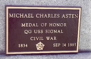 Quarter Gunner Michael Charles Asten Navy Headstone