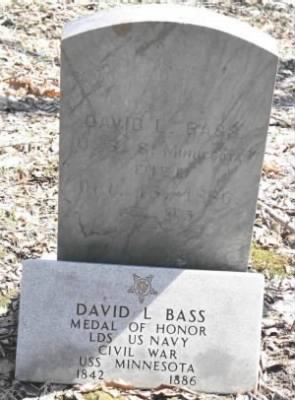 Seaman David L Bass Navy Headstone