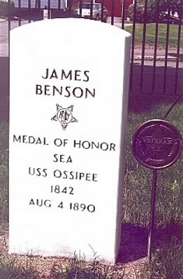 Seaman James Benson Navy Headstone