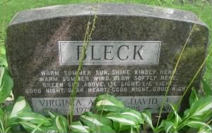Pvt David John Bleck Sr Headstone
