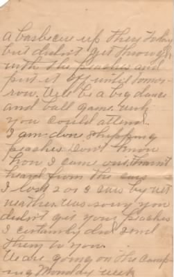 Letter from Adolphus M. Barker to Lois Link, 27 June 1909
