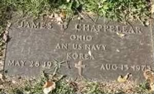 James David Chappelear Headstone 1934-1972 Navy