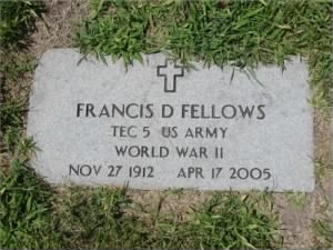 Francis Fellows headstone