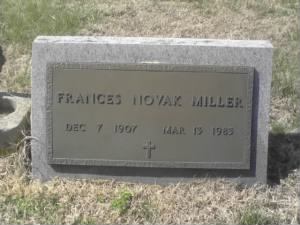 Frances Novak Miller, Sunny Slope Cemetery, West Point, Va.