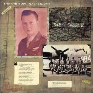 Clyde R Clark/ younger brother to 340th BG Clair Clark WWII