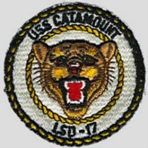 USS CATAMOUNT SHOULDER PATCH