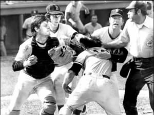 Thurman Munson and Carlton Fisk Fight